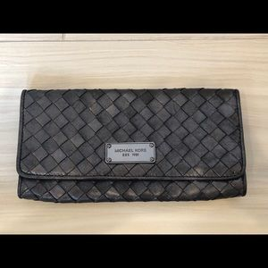 Real Michael Kors Charcoal Clutch Purse